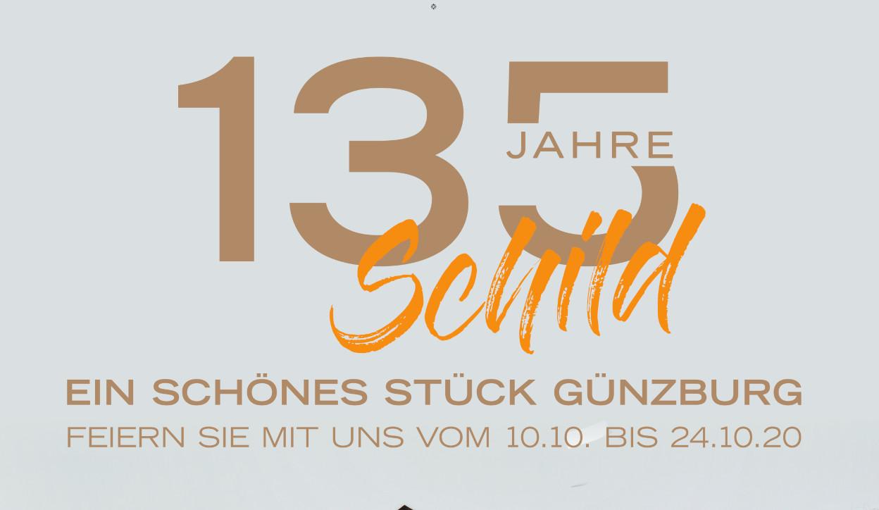 135 Jahre Schild in Günzburg