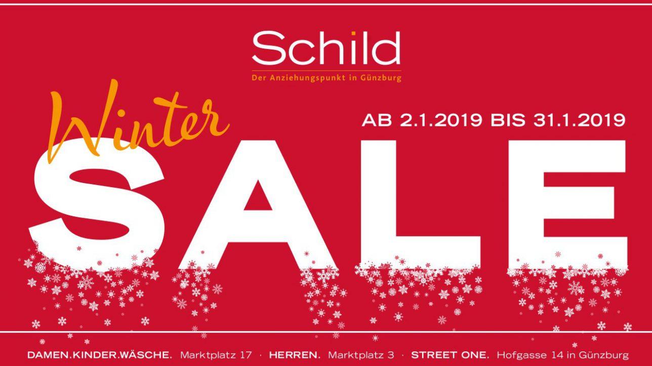 Schild Winter Sale