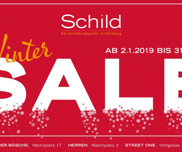 Schild Winter Sale